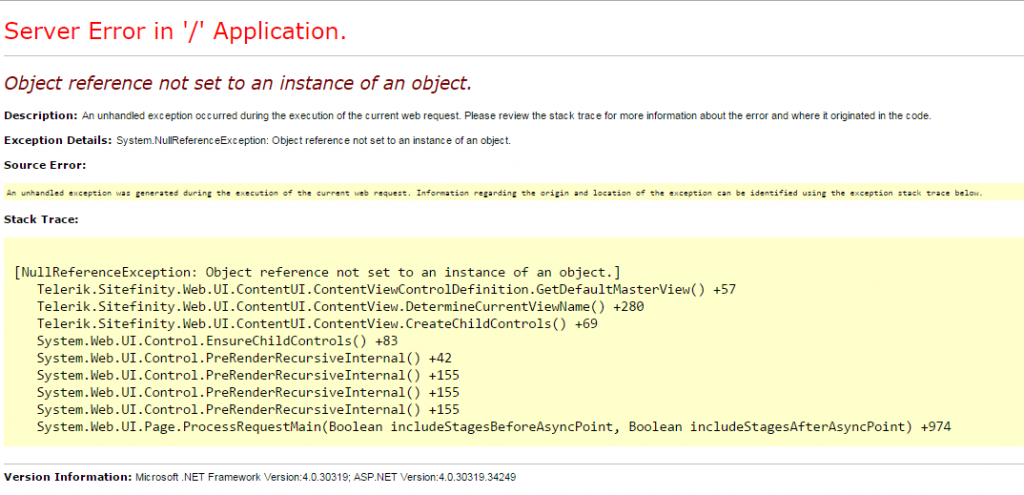 c# Object reference not set to an instance of an object