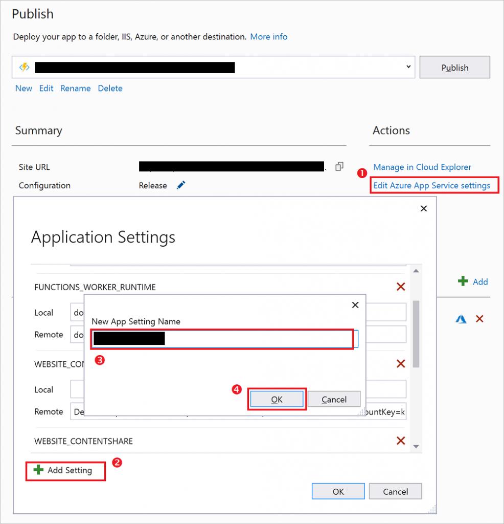 Azure function app & Sql